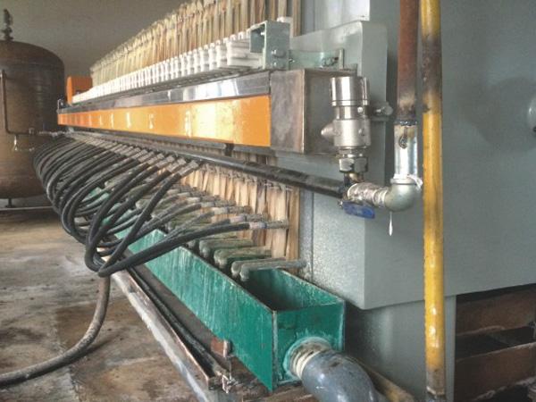 橡胶隔膜压滤机处理