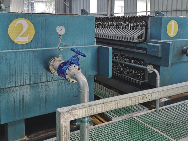 纺织厢式压滤机处理